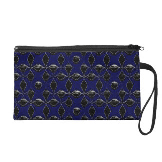 BLUE GLASS X WRISTLET PURSE