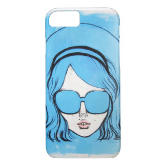 Blue Glasses Girl 1 iPhone 8/7 Case