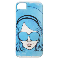 Blue Glasses Girl 1 Iphone Se/5/5s Case at Zazzle