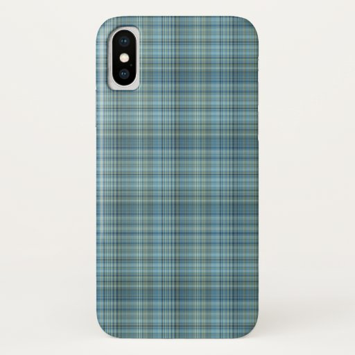 Blue Glen Plaid iPhone case