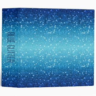 blue glitter binder