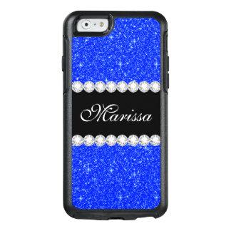 Blue Glitter Black OtterBox iPhone 6/6s Case