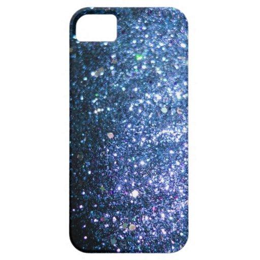 Blue Glitter Bling Cover iPhone 5 Case : Zazzle