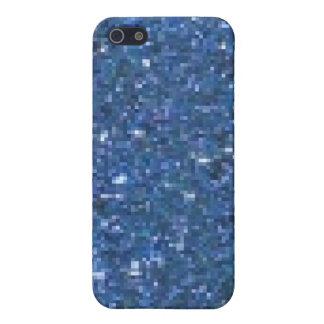 Blue Glitter  Case For iPhone SE/5/5s
