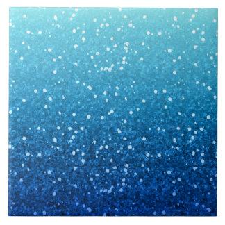 Blue Glitter Ceramic Tiles Zazzle