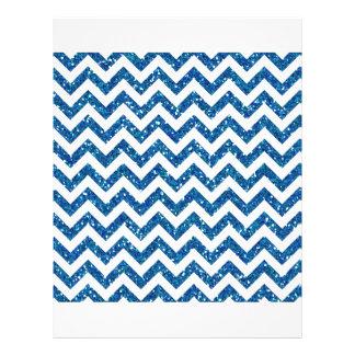 Blue Glitter Chevron Pattern Flyer