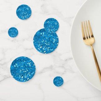 Blue Glitter Confetti