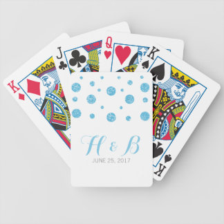 Blue Glitter Confetti Playing Cards
