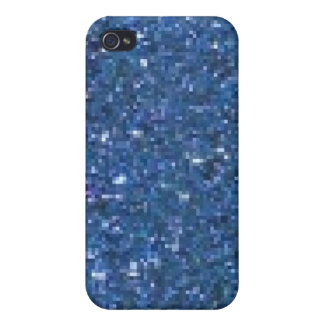 Blue Glitter  Covers For iPhone 4