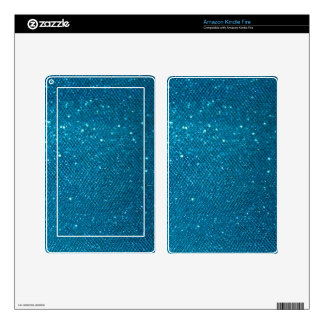 Blue Glitter Decal For Kindle Fire