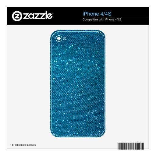 Blue Glitter Decals For The iPhone 4S
