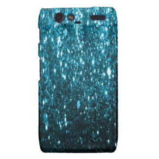 Blue glitter droid phone cover droid RAZR cases