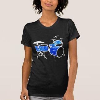 Blue Glitter Drums T-Shirt