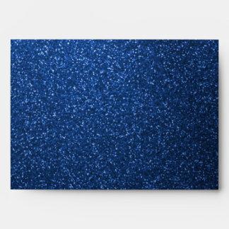 Blue Glitter Envelope