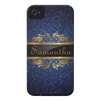 Blue Glitter iPhone 4/4S Mate Barely There™ Case
