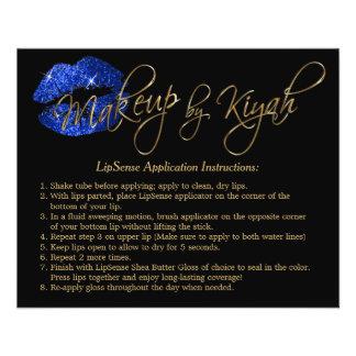 Blue Glitter Lip Instruction Flyer