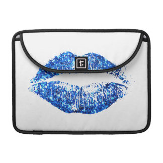 Blue Glitter Lips #2 Sleeves For MacBook Pro