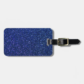 Blue Glitter Travel Bag Tags