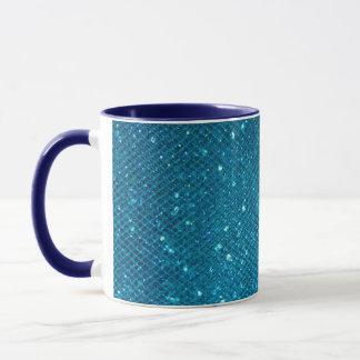 Blue Glitter Mug