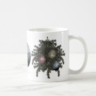 Blue Glitter Ornament Drinkware Coffee Mugs
