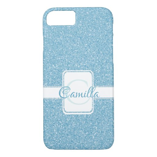 Blue Glitter Personalized Case-Mate iPhone Case