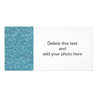 Blue Glitter Printed Card