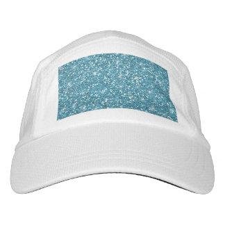 Blue Glitter Printed Headsweats Hat