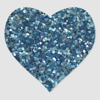 BLUE GLITTER PRODUCTS ~ for HOLIDAYS or Any Day! Heart Sticker