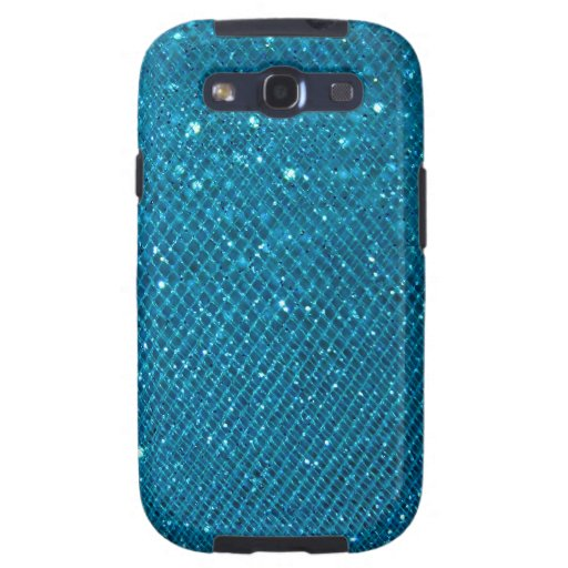Blue Glitter Samsung Galaxy SIII Case