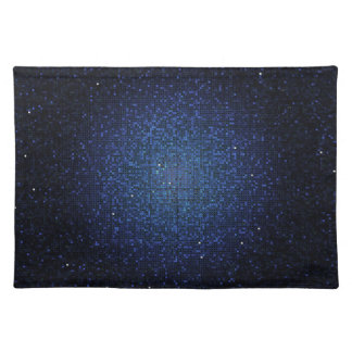Blue Glitter Sequin Disco Glitz Pattern Placemat