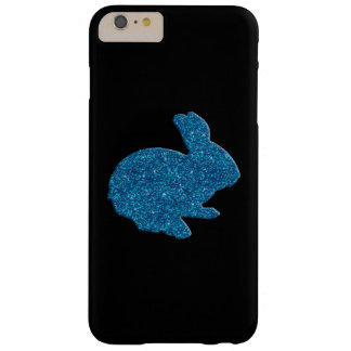 Blue Glitter Silhouette Easter Bunny iPhone 6 Case