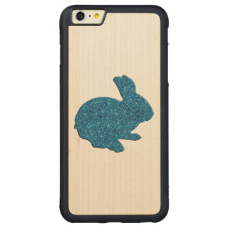 Blue Glitter Silhouette Rabbit iPhone 6 Case Carved® Maple iPhone 6 Plus Bumper