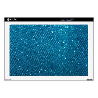 Blue Glitter Laptop Skin
