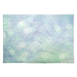 Blue glitter / sparkles (matt) placemats