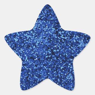 Blue Glitter Star Sticker