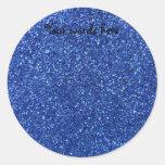 Blue glitter stickers