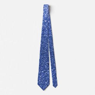 Blue glitter tie