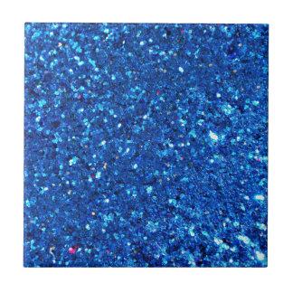 Blue Glitter Ceramic Tiles