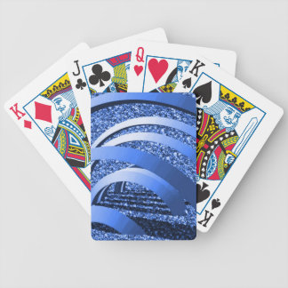 blue glitter with bows bicycle playing cards