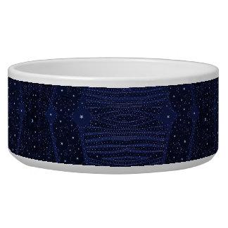 Blue Glitter Zebra Abstract Bowl