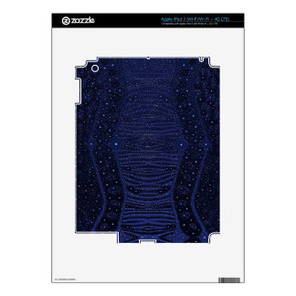 Blue Glitter Zebra Abstract Decals For iPad 3