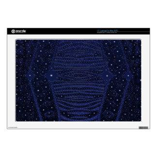 Blue Glitter Zebra Abstract Laptop Decals