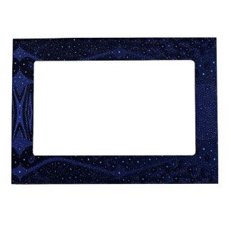 Blue Glitter Zebra Abstract Magnetic Photo Frame
