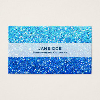 Blue Glitters Sparkles Texture Business Card