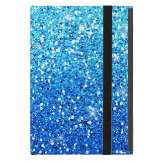 Blue Glitters Sparkles Texture Covers For iPad Mini