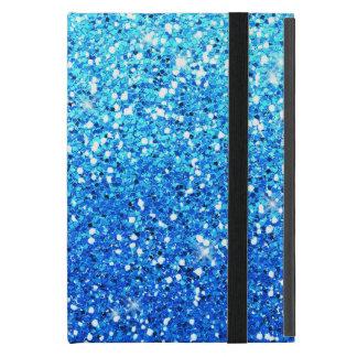 Blue Glitters Sparkles Texture iPad Mini Cover