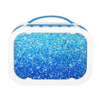 Blue Glitters Sparkles Texture Yubo Lunchboxes