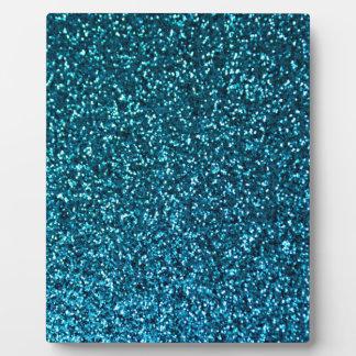Blue Glittery Pattern Plaque