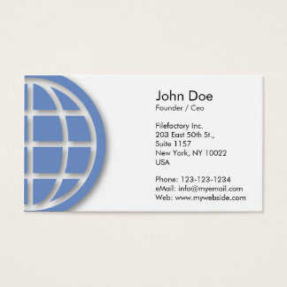 Blue Globe Design Business Card