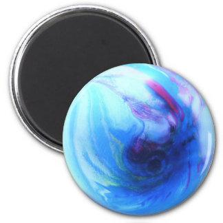 Blue Globe 2 Inch Round Magnet
